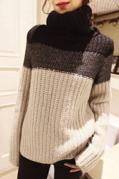 Winter Turtleneck Long Sleeve Regular Pullovers Sweater
