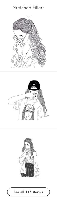 """""""Sketched Fillers"""" by bluebirdi ❤ liked on Polyvore featuring fillers, drawings, doodles, art, sketches, outlines, backgrounds, quotes, text and magazine"""