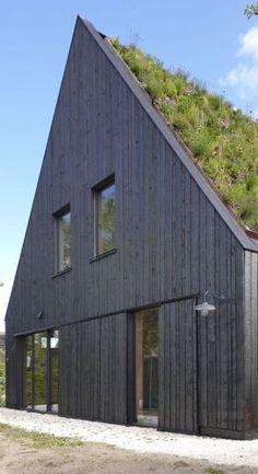 Library Architecture, Architecture Design, Dream Home Design, House Design, Eco Construction, Small Villa, Underground Homes, A Frame House, Unusual Homes