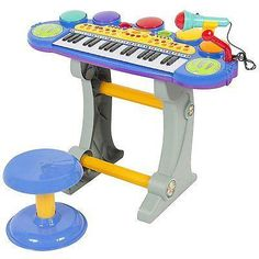 Baby,Toddler Electronic Toy DJ Keyboard Piano Set w Mic Records Playback Stool Electric Keyboard, Instrument Sounds, Keyboard Piano, Piano Keys, Musical Toys, Developmental Toys, Electronic Toys, Learning Toys, Musical Instruments
