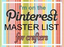 If you love crafts; this site allows you to add your Pinterest link and up comes your profile pic. You can click on almost 1,400 links to take you direct to Pinteresters who have craft boards..I love this idea!