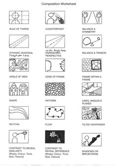 Geometry Worksheets, Algebra Worksheets, Sight Word Worksheets, Line Art Lesson, Simplifying Algebraic Expressions, Composition Techniques, Teaching Geometry, Photography Rules, Math Quotes