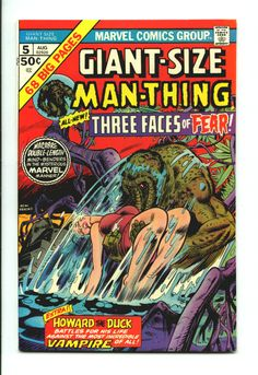 My favorite all time comic book! Man-Thing! MntGS_5_WPb.jpg (876×1275)