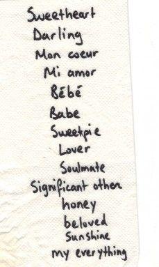 Sweetest callsign for lovers