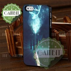 Harry Potter Stag Patronus Design - iPhone 4/4s/5/5S/5C Case - Samsung Galaxy S2/S3/S4 Case - Black or White by XGAMBITX on Etsy