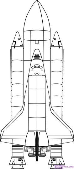 Cohete blanco y negro