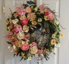 Summer WreathSHIPPING INCLUDED Grapevine by GiftsByWhatABeautifu