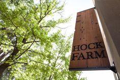 Rustic Wood Sign at Hock Farm Restaurant, Remodelista