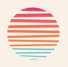 Minimal Sunset by Josh Warren. I would obviously make those lines more of a realistic sunset with the spaces between Sunset Logo, Sunset Art, Sunset Tattoos, Surf Art, Grafik Design, Minimal Design, Flat Design, Graphic Design Inspiration, Cool Designs