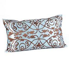 Louis Blue & Brown Pillow | Kirkland's