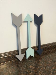 These handmade wooden arrows would look adorable in any arrow, adventure or woodland themed nursery or room. These would also make a great