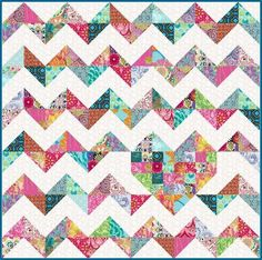 iHeart Chevrons Quilt Pattern - Download from Craftsy.  I must be getting lazy ... I'd rather pay and download the pattern than try to figure out the math to do it!  Only $8.00