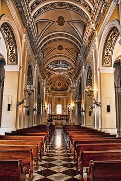i promise not to stay inside too long so it won't burn down ... Cathedral San Juan Bautista  Old San Juan Puerto Rico