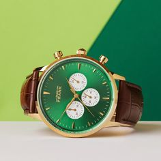 The Montpellier green chronograph www.Grandfrank.com