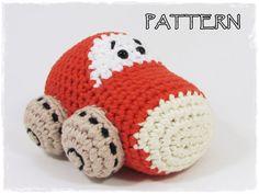 Car crochet pattern stuffed toy tutorial