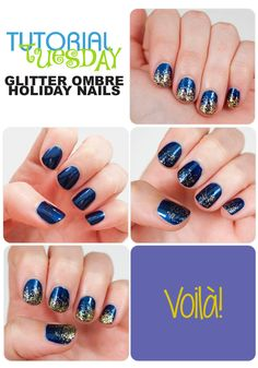 Tutorial Tuesday – Glitter Ombre Holiday Nails