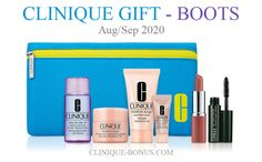 Fall Clinique gift at Boots UK and Ireland: Receive a free 7-piece Clinique gift with the online purchase of two or more selected products. Note that in-store offer (the gift and qualifier) may vary. Clinique Gift, Debenhams, Online Purchase, Harrods, Cosmetic Bag, Dillards, Free Gifts, Ireland, Moisturizer