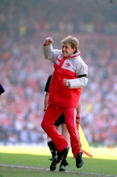 Liverpool player manager Kenny Dalglish celebrates a goal at Anfield in Liverpool Team, Kenny Dalglish, Blackburn Rovers, Celtic Fc, You'll Never Walk Alone, Best Club, Glasgow, Hero, Gemini