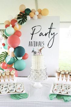 Modern party animal birthday party | Boys birthday party ideas | 100 Layer Cakelet