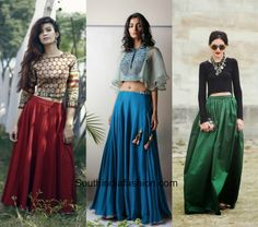 what to wear with indian long skirts