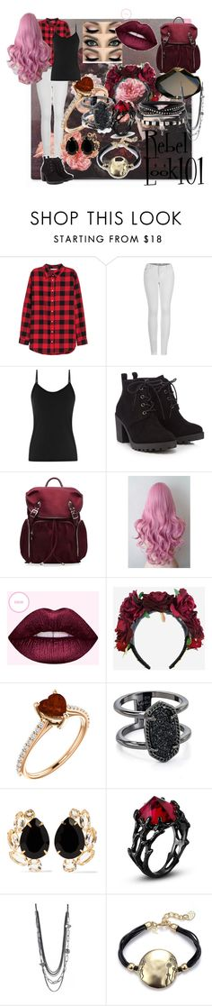 """""""Chocolate Chip cookies, with a bit of Rose"""" by dreamingbutterflies on Polyvore featuring H&M, 2LUV, Red Herring, M Z Wallace, Kendra Scott and Bounkit"""