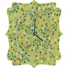 Vy La Natures Swirl Quatrefoil Clock | DENY Designs Home Accessories