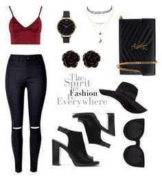 A fashion look from October 2016 featuring destroyed skinny jeans, boho sandals and yves saint laurent wallet. Browse and shop related looks. Olivia Burton, Lipsy, Charlotte Russe, Polyvore Fashion, San Diego, Yves Saint Laurent, Michael Kors, Hat, Shoe Bag