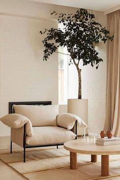 Living Room Inspiration, Interior Design Inspiration, Home Decor Inspiration, Home Interior Design, Decor Ideas, Interior Plants, Interior Modern, Interior Decorating, Interior Home Decoration