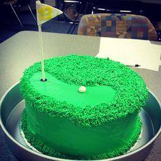 #golf #cake #golfcake #birthdaycake Golf Party, Cake Ideas, Cake Toppers, Birthdays, Birthday Cake, Foods, Desserts, Recipes, Pastries
