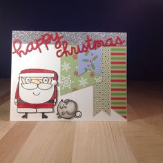 Happy Christmas card by Elizabeth - Paper Smooches - Christmas Words 2, Santa Paws