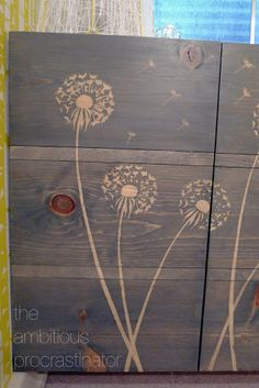 put down stencil on wood paint with wood glue mixed with water and then stain wood the wood glue once dry doesn't allow the stain to penetrate....cool