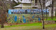Have you seen these amazing Austin street art pieces, Austin murals, mosaics, and other Austin graffiti art around town? Austin Murals, Patterson Park, Austin Neighborhoods, Austin Music, Austin Real Estate, Lake Travis, Austin Homes, Red River, Free Fun