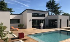 Casas modernas - Depreux Construction - Rebel Without Applause Modern Villa Design, Paint Colors For Living Room, House Goals, Modern Architecture, Museum Architecture, Home Deco, Future House, New Homes, House Styles