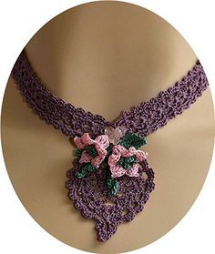 $4.75~Ravelry: Cherished Pineapple Necklace pattern by Kathryn White