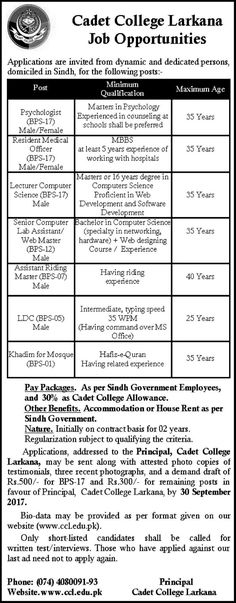 Primary And Secondary Healthcare Department Jobs  In Lahore