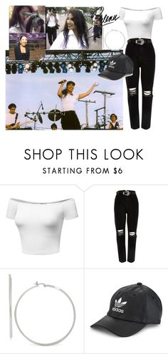 """""""selena quintanilla inspired 14"""" by angellx370 ❤ liked on Polyvore featuring River Island, adidas Originals, inspiration, selenaquintanilla and selenas"""