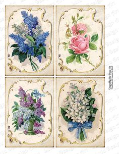 Discover thousands of images about Floral Vintage Cards Digital Collage Sheet Printable Cards Vintage Cards, Vintage Paper, Decoupage Printables, Victorian Paintings, Shabby Chic Cards, Anna Griffin Cards, Decoupage Paper, Printable Cards, Collage Sheet