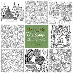 Merry Christmas Coloring Pages from MichaelsMakers U Create Crafts