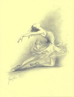 Limited Edition 8 x 12 print on CREAM PAPER of original pencil drawing by Ewa Gawlik (7/100).