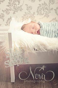 Newborn Ruffle Stretch Wrap, Newborn Photo Prop, Baby Ruffle Wrap/Mini Blanket, Baby Girl Ruffle Wrap - Blue ,Green or Grey. $15.00, via Etsy.