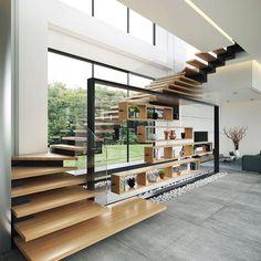 Duplex House Design, Apartment Design, Modern House Design, Luxury Interior Design, Interior Architecture, Interior And Exterior, Villa Design, Contemporary Home Decor, Loft
