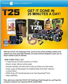 This is the complete T25 Challenge Pack. It's on sale for $180 (regularly $205) through Aug 31st. My challenge group begins in Sept. Join me and get fit!