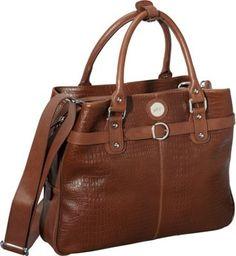 Jill-e Designs E-GO Leather Career Bag Brown Croc - via eBags.com!