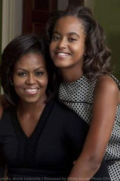 The First Lady Michelle Obama and the first daughter