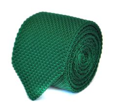 skinny plain dark green knitted tie with pointed end by Frederick Thomas FT1858 by FrederickThomas on Etsy https://www.etsy.com/au/listing/232203831/skinny-plain-dark-green-knitted-tie-with