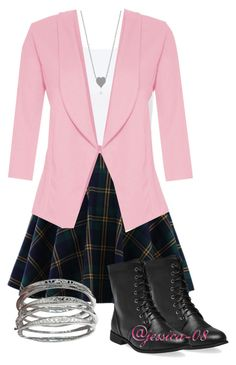 """""""Preppy"""" by jessica-08 ❤ liked on Polyvore featuring Chicwish, Wet Seal and Quiz"""