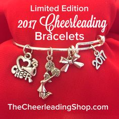Limited Edition 2017 Cheerleading Bangle Charm Bracelet The Perfect Gift For Your Cheerleaders