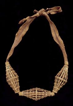 Indonesia ~ South Sulawesi  | Necklace; gold and cloth | Late 19th to early 20th century | Toraja people  |||  {GPA}