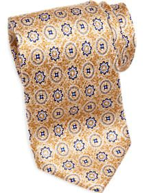Joseph Abboud Gold Medallion Narrow Tie