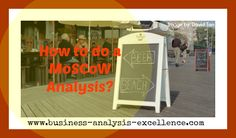 How to do a MoSCoW Analysis